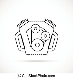 Car engine outline icon