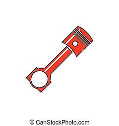 Car engine piston icon