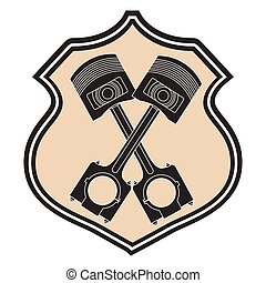 car engine pistons industry automotive emblem