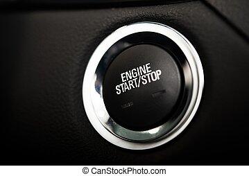 Car Engine Start Button