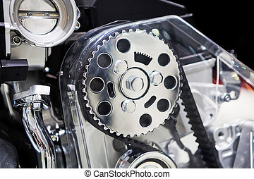 Car engine - Side view of car engine close up
