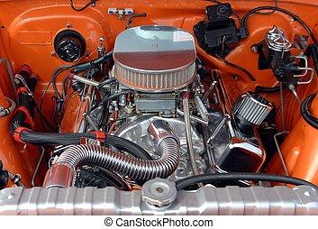 Car Engine - Photographed car engine at car show in Georgia.
