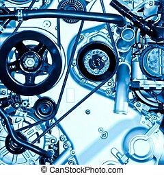 car engine part close up