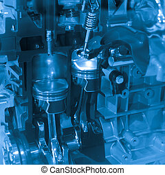 car engine - modern industry auto car engine