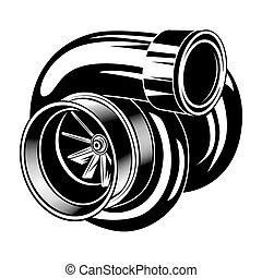 Car engine vector illustration