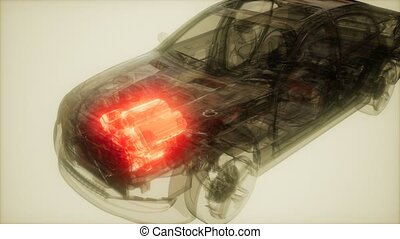 Car Engine Visible in Car - car engine visible in...