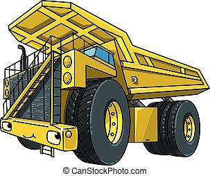 car, engraçado, caminhão, pesado, entulho, olhos