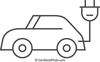 car, -, esboço, ícone
