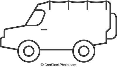 car, -, esboço, offroad, ícone