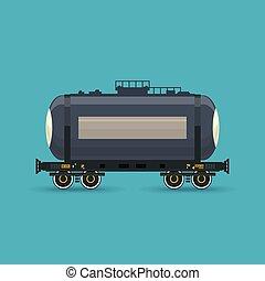 car, estrada ferro, tanque, isolado