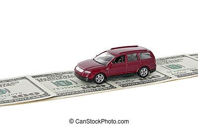 car, estrada vermelha, dinheiro