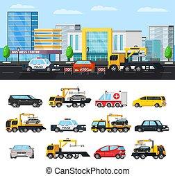 Car Evacuation Elements Concept