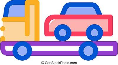 Car Evacuation Icon Vector Outline Illustration - Car ...