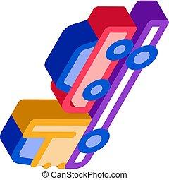 Car Evacuation isometric icon vector illustration - Car ...