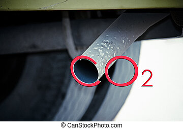 Car exhaust pipe, India