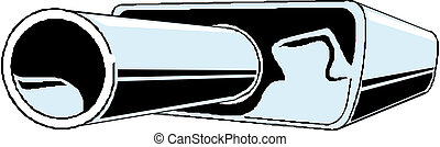 Car exhaust. Vector illustration