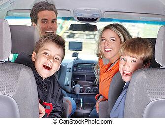 car, família