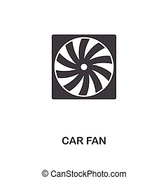 Car Fan creative icon. Simple element illustration. Car Fan concept symbol design from car parts collection. Can be used for web, mobile, web design, apps, software, print.