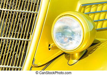 car, farol, grille