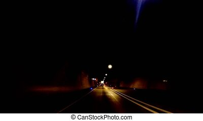 Car fast through tunnel