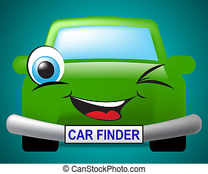Car Finder Shows Search For And Automobile