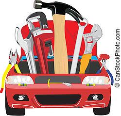 car fix - Set of different tools for car repair