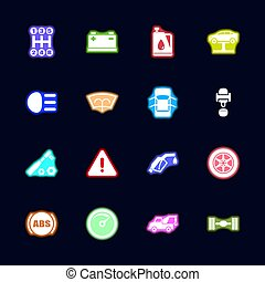 Car - Flat Vector Icons