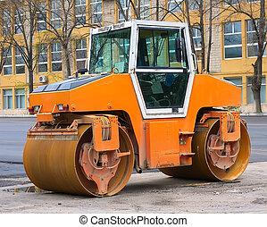 car for asphalt laying