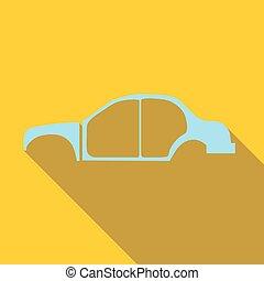 Car frame icon, flat style