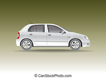 Car from the side - realistic illustration
