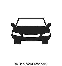 car front automobile auto vehicle icon vector graphic