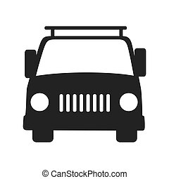 car front vehicle icon vector graphic