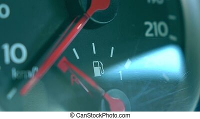 Car fuel gauge 4K macro shot - Car fuel gauge 4K macro video