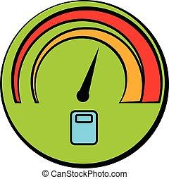 Car fuel gauge icon cartoon