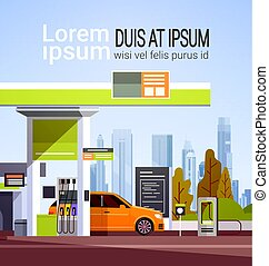 Car Fueling At Gas Petrol Station