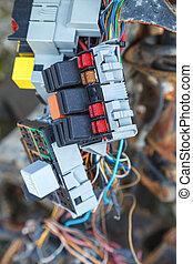 Car fuse box - Close up of the car fuse box