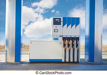 car gas station against the sky