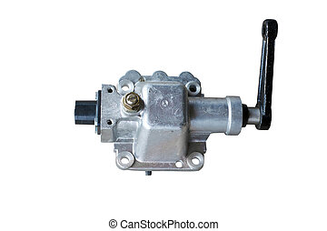 Car gearshift mechanism isolated on