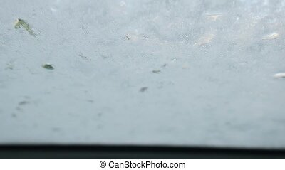 Car glass shampoo coating during the wash