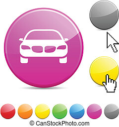 Car glossy button.