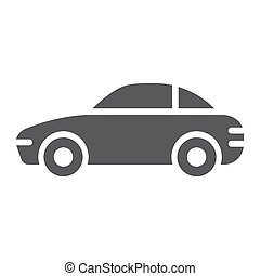 Car glyph icon, traffic and vehicle, automobile sign, vector graphics, a solid pattern on a white background.