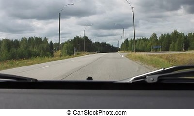 Car goes on the road