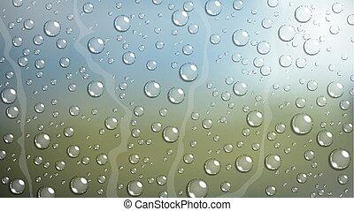 car, gota, chuva, janela, pára-brisa