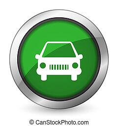 car green icon auto sign