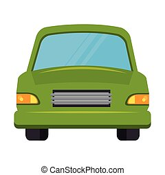 car green isolated icon