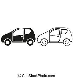 Car - green vector icon