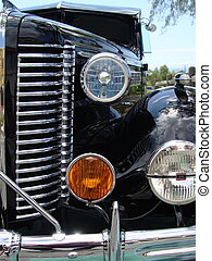 Car grill and headlights
