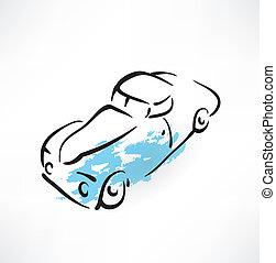 car grunge icon