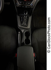 Car handle top view