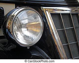 Car headlight - Antiq car headlight taken clouse-up...